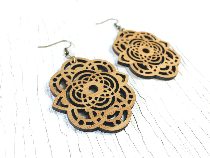 Hexagon Dangle Earrings