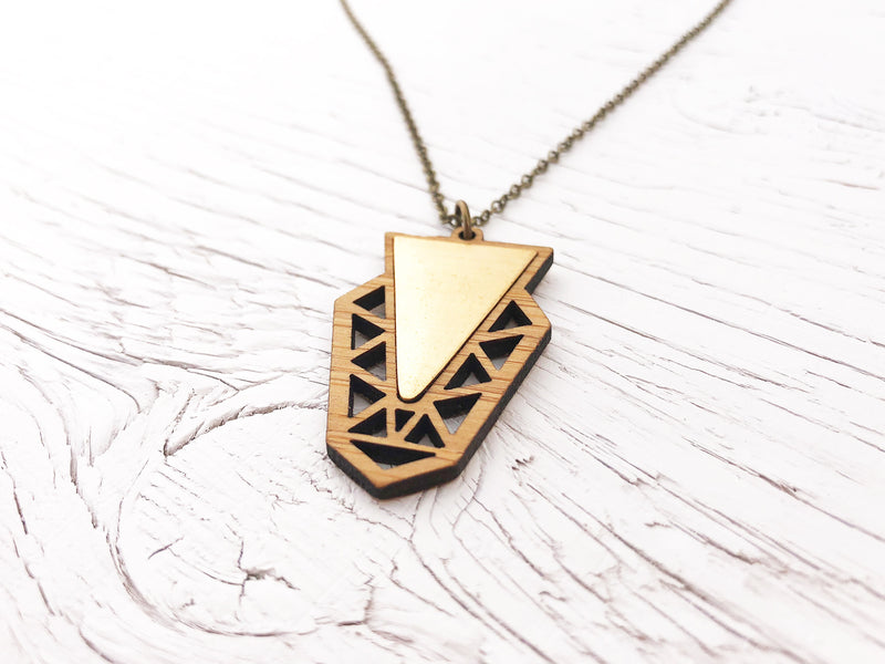 Medium Fusion Triangle Necklace