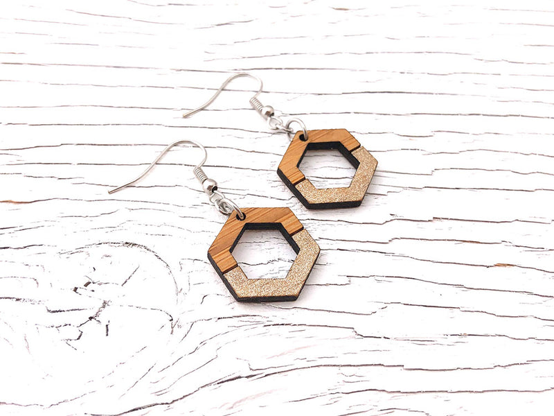Chroma Hexagon Dangle Earrings