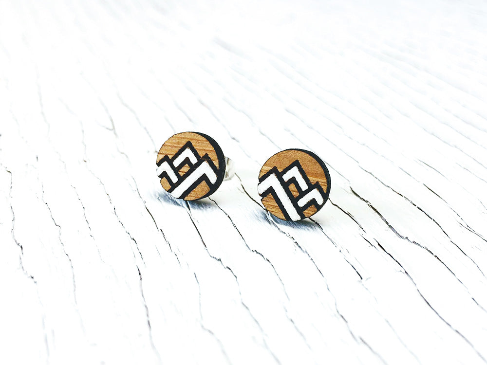 Modern Mountain Stud Earrings