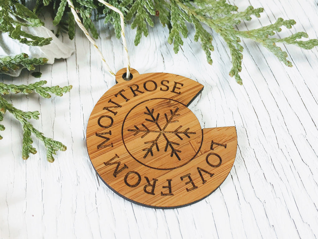Love from Montrose Colorado Ornament