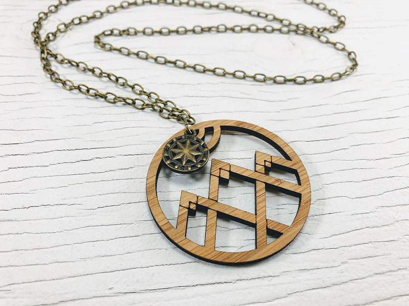 Modern Mountain Necklace