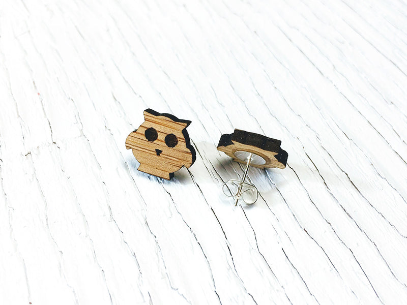Owl Stud Earrings