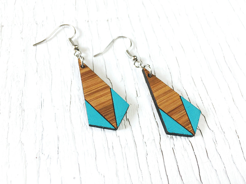 Painted Kite Dangle Earrings