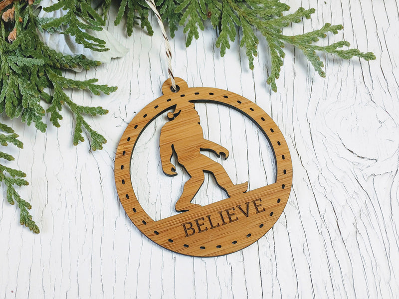 Believe Sasquatch Ornament