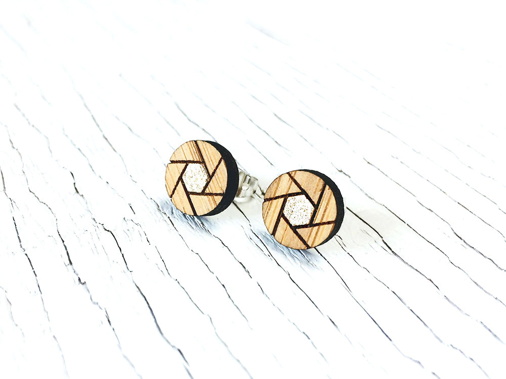 Camera Shutter Stud Earrings