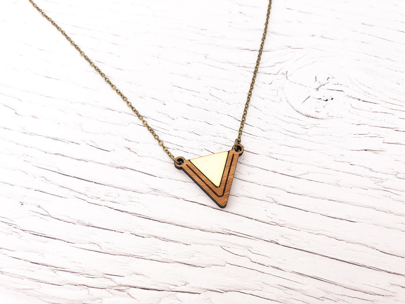 Small Fusion Triangle Necklace
