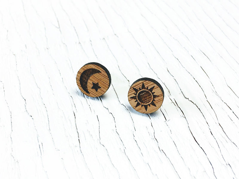 Maple Leaf Stud Earrings