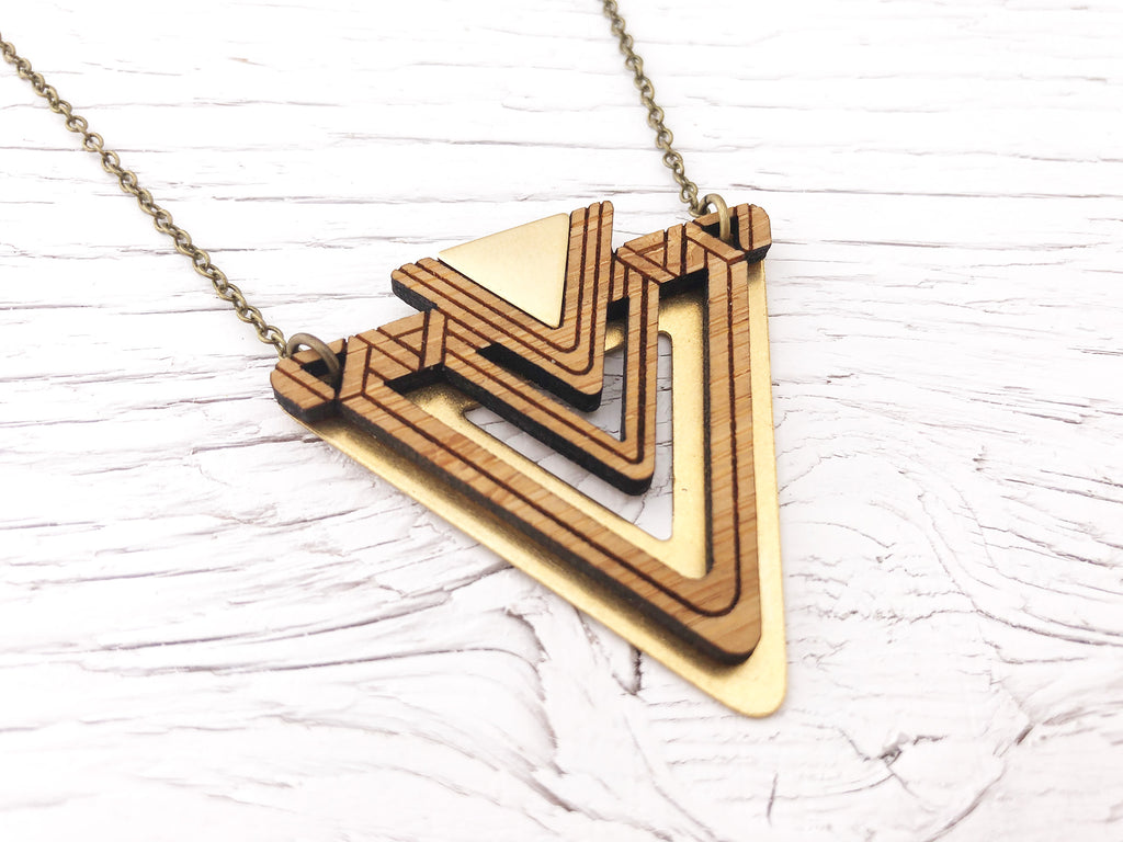 Fusion Triangle Statement Necklace