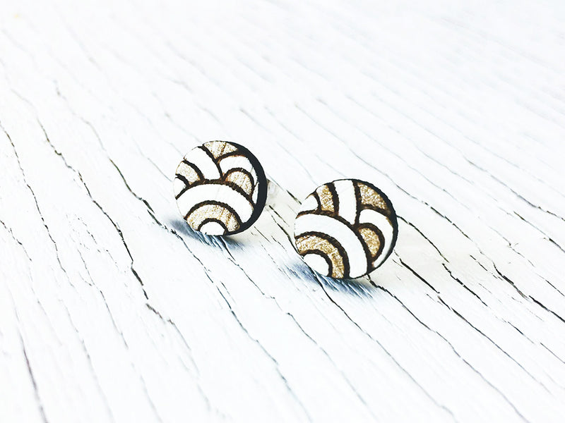 Zen Garden Stud Earrings