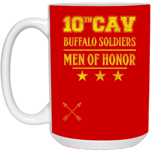 21504 15 oz. White Mug-10th Cav-drinkware
