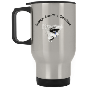 Courage-Silver Stainless Travel Mug