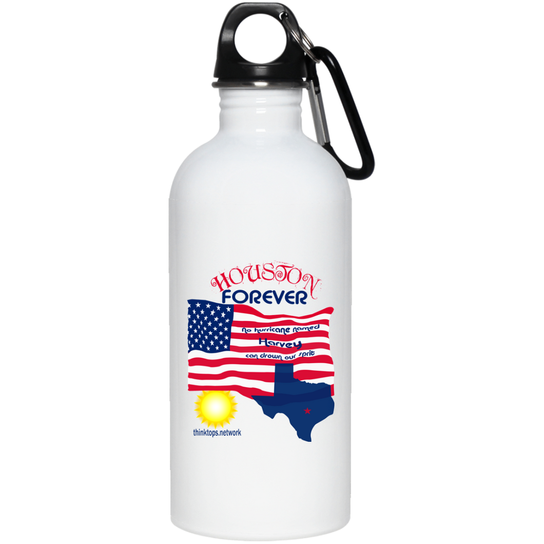 23663 20 oz. Stainless Steel Water Bottle-Houston-Drinkware