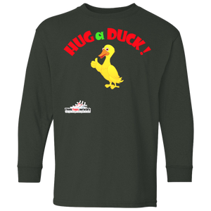 Duck- 5.3 oz. 100% Cotton Youth LS T-Shirt