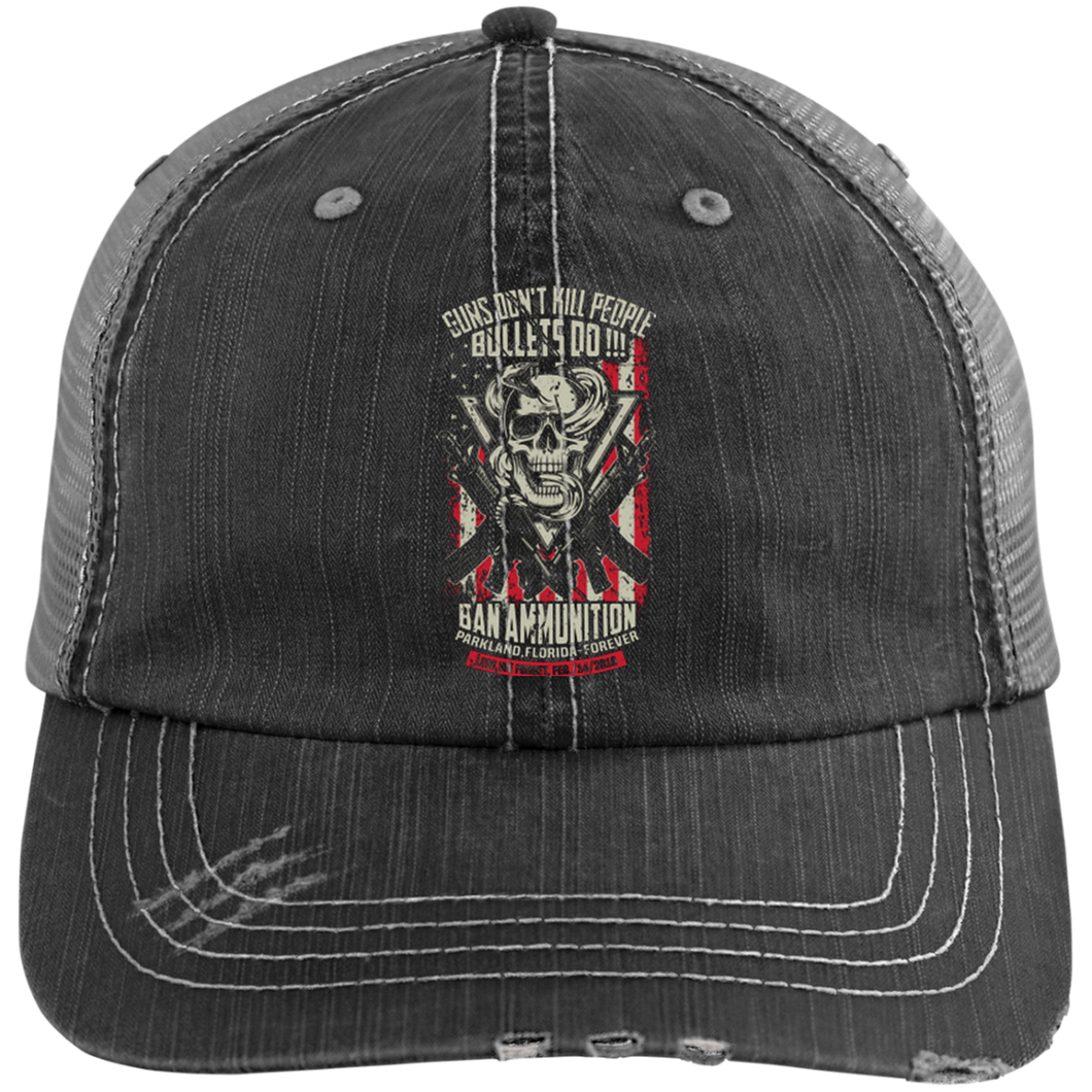 6990 Distressed Unstructured Trucker Cap-bulletx