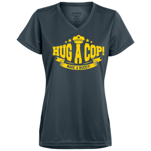 Hug a Cop-1790 Augusta Ladies' Wicking T-Shirt