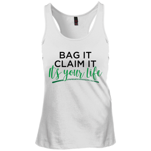 Bag it- District Junior's Racerback Tank Top