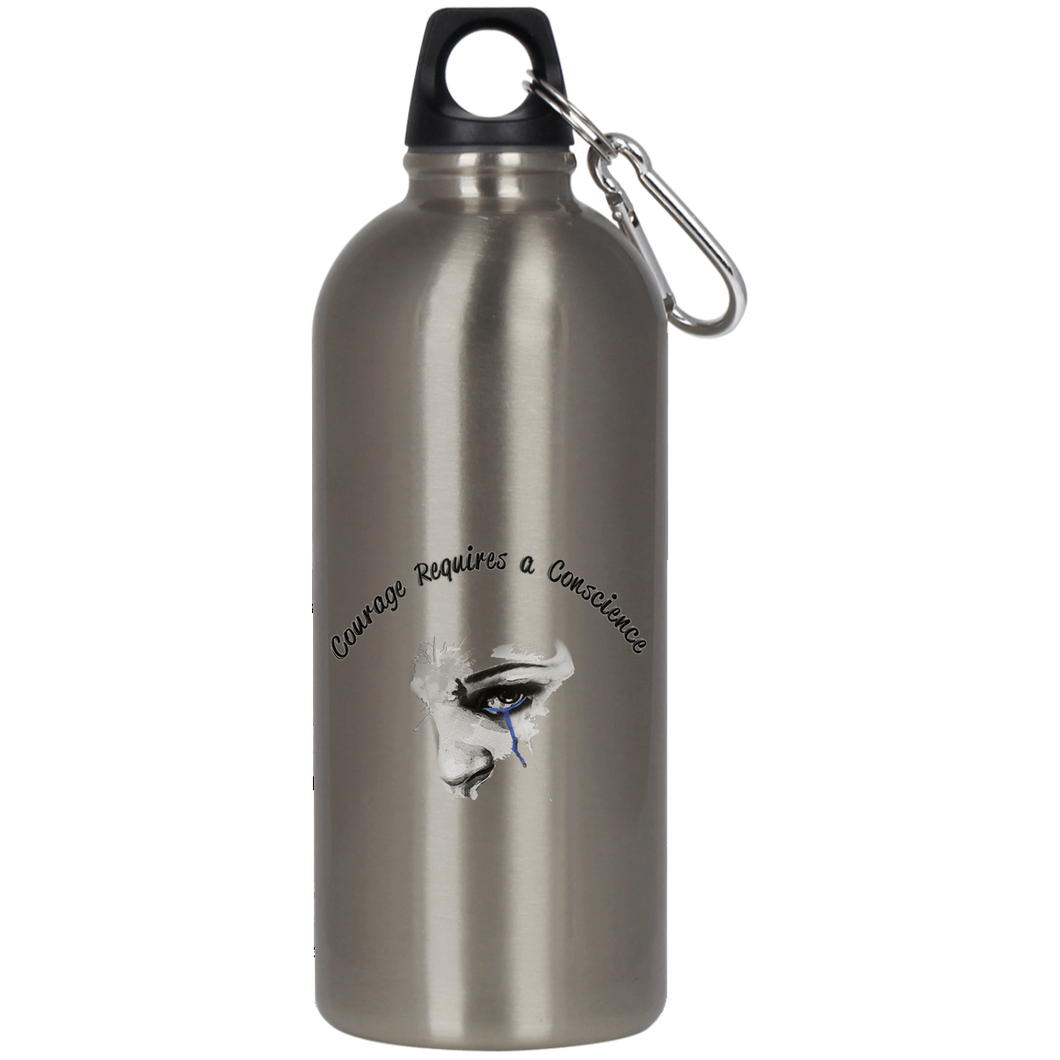 Courage- Stainless Steel Silver Water Bottle