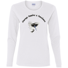 G540L Gildan Ladies' Cotton LS T-Shirt