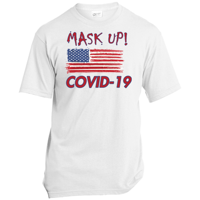 Mask Up-USA Unisex T-Shirt-men's wear