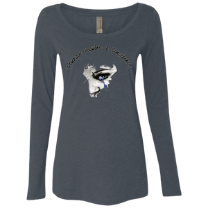 Courage- Next Level Ladies' Triblend LS Scoop