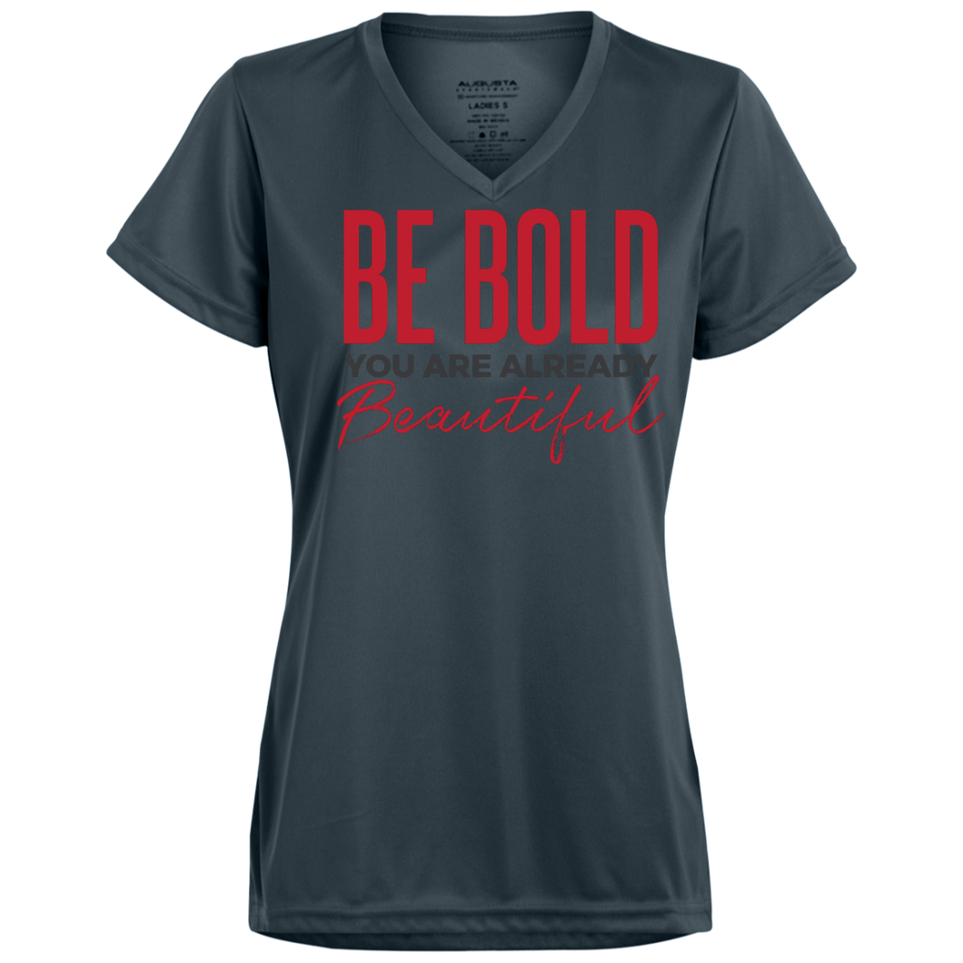Be Bold- Ladies -gray- Wicking T-Shirt