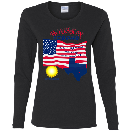 G540L Gildan Ladies' Cotton LS T-Shirt-Houston-women' wear
