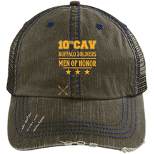 6990 Distressed Unstructured Trucker Cap-Baffalo