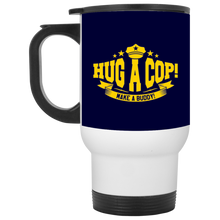 XP8400W White Travel Mug-Hug A Cop