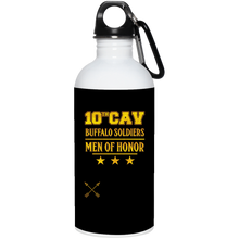 23663 20 oz. Stainless Steel Water Bottle-10th Cav- drinkware
