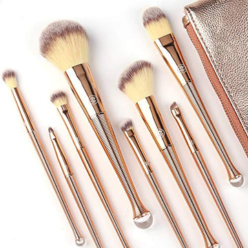 Makeup Brushes Set with Bag: 8Pcs