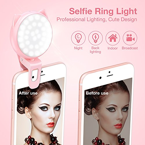 Selfie Light Ring for iPhone and Android