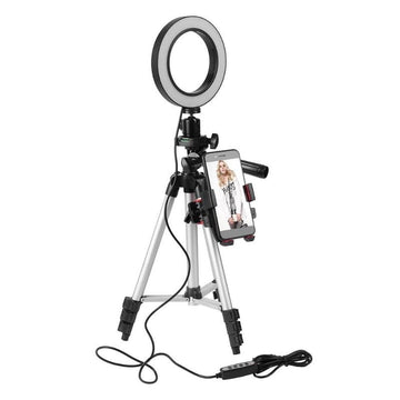 Dimmable Phone Tripod and Ring Light