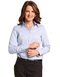 Benchmark Women's Pinpoint Oxford L/S Shirt