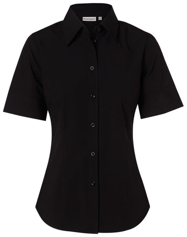 Benchmark Women's Cotton/Poly Stretch S/S Shirt