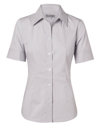 Benchmark Women's Ticking Stripe S/S Shirt
