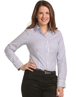 Benchmark Women's Sateen Stripe L/S Shirt