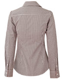Benchmark Ladies' Gingham Check Long Sleeve Shirt