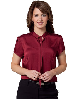 Benchmark Women's Tie Neck Blouse