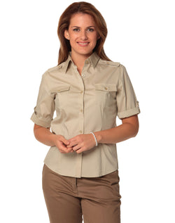 Benchmark Women's Short Sleeve Military Shirt