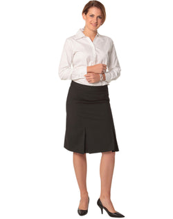 Benchmark Women's Pleated Skirt in Wool Stretch