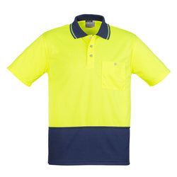 Syzmik Unisex Hi Vis Basic Spliced Polo - Short Sleeve