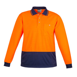 Syzmik Unisex Hi Vis Basic Spliced Polo - Long Sleeve