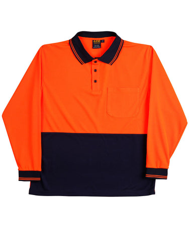 AIW Hi-Vis truedry safety polo L/S