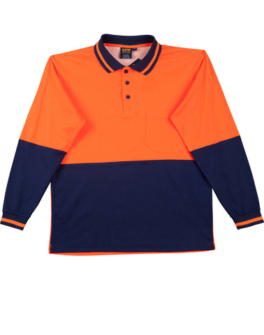 AIW Hi-Vis truedry safety polo Long Sleeve
