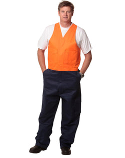 AIW Hi-His Two Tone Men's Cotton Drill Action Back Overall-Regular