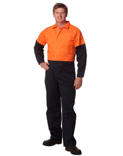 AIW Hi-Vis Two Tone Men's Cotton Drill Coverall-Regular