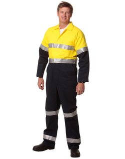 AIW Hi-Vis Men's Light Weight Cotton Coverall with 3M Tape-Regular