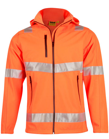 AIW Hi-Vis Softshell Hooded Jacket With 3M Tape