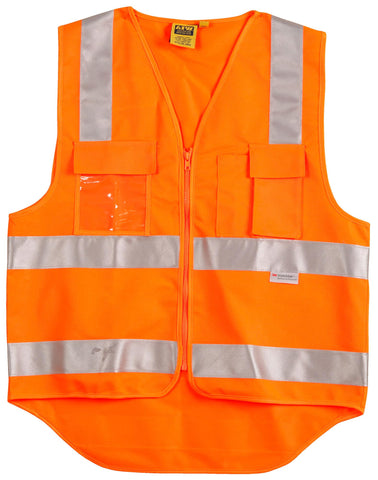 AIW Hi-Vis Safety Vest with ID Pocket & R/F Tapes